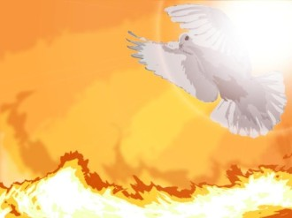 Dove and Fire Photo Background