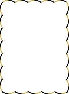 Brown and Black Wavy Border