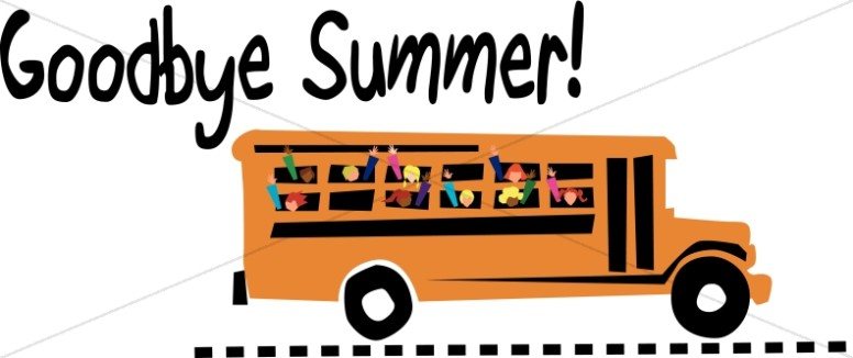 Goodby Summer School Bus