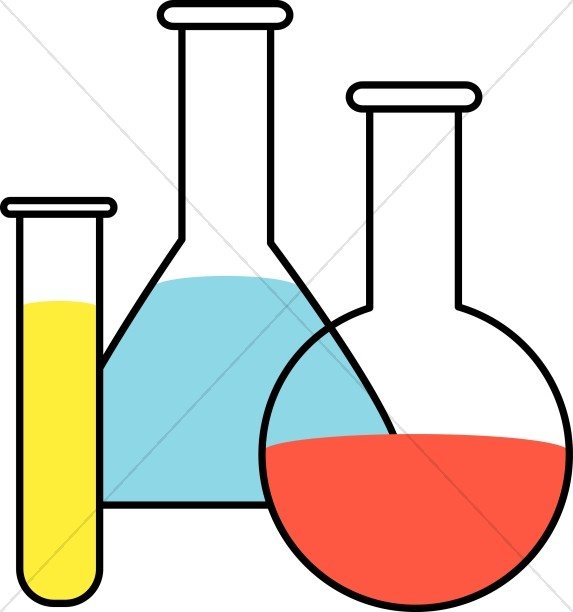 Flasks and Test Tubes Clipart