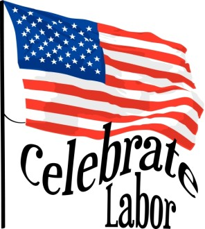 Flag with Celebrate Labor