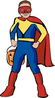 Boy Superhero Clipart in Color