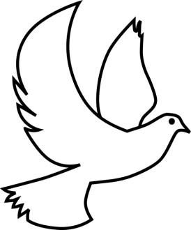 Winged White Dove Clipart Image