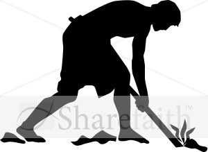 Silhouette Field Worker Clipart