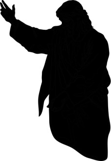 Silhouette of Jesus Clipart