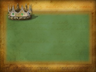 Text Ready Background with a Crown