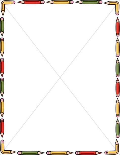 School Pencil Border