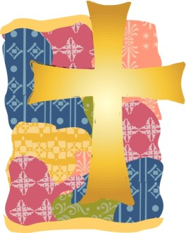 Gold Cross with Quilted Pattern