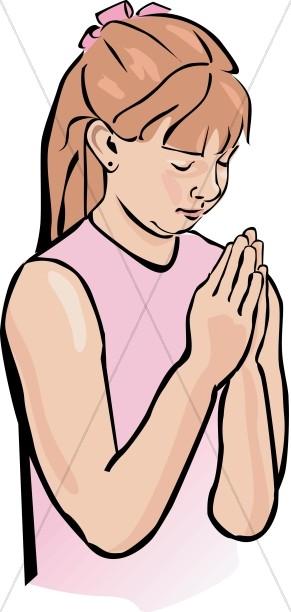 Girl Praying Clipart