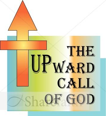 Upward Call Of God Inspirational Word Art