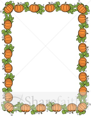 Pumpkin Border | Fall Borders - 38.2KB