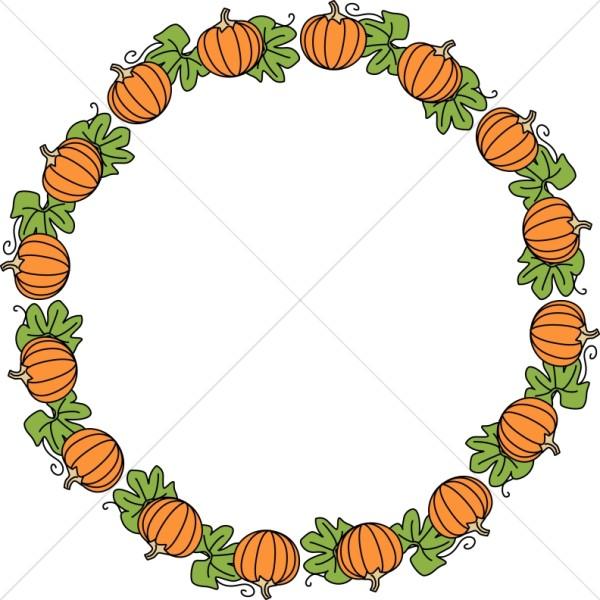 Round Pumpkin Border