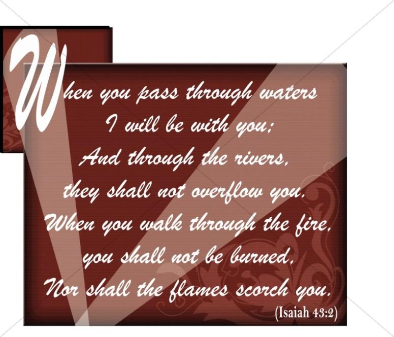 Isaiah Verse Word Art