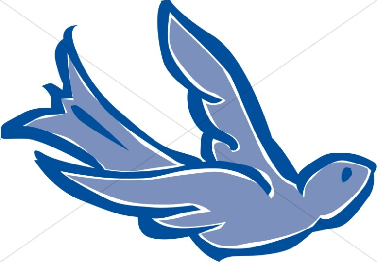 Blue Shaded Dove Clipart