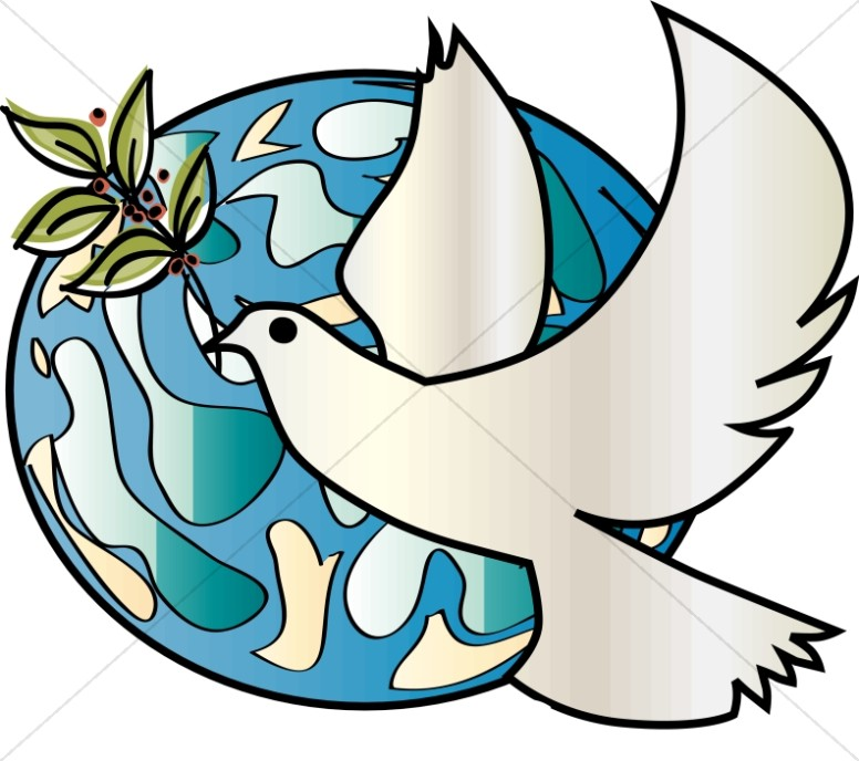Dove Over Earth With Olive Branch Dove Clipart