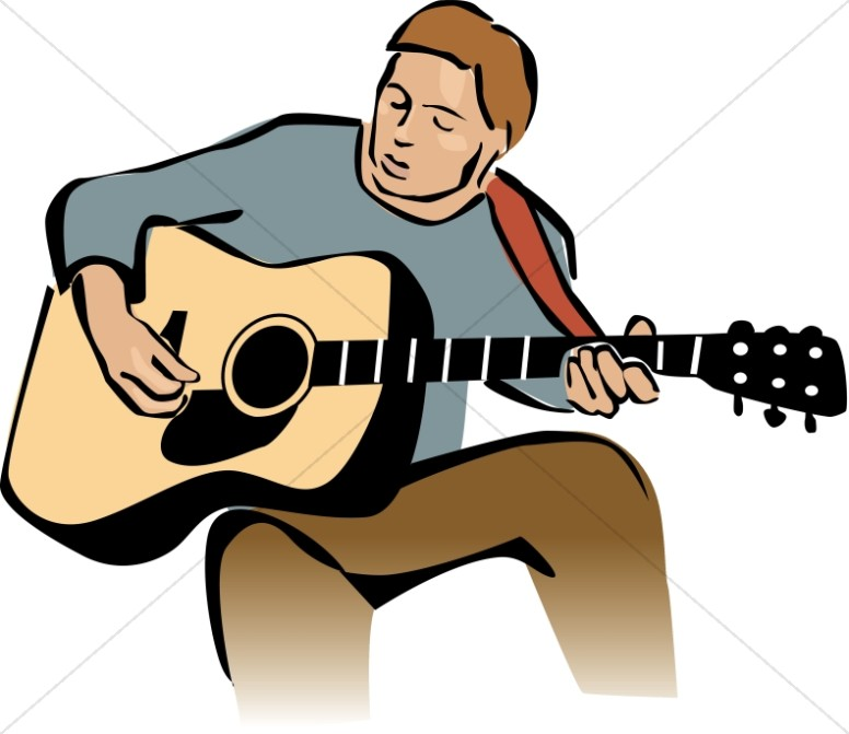 Guitar Player Leading Worship