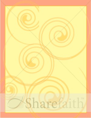 Orange and Yellow Swirls Border