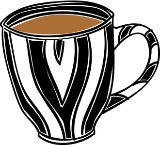 Striped Coffee Mug Clipart