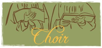 Choir with Hymnals Clipart