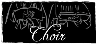 Black and White Choir Hands Clipart