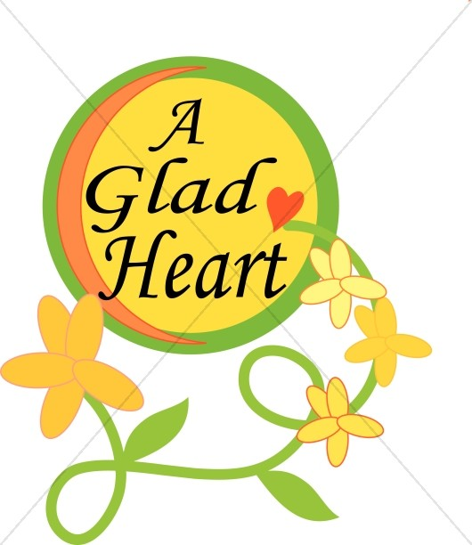 Glad Heart with Flowers