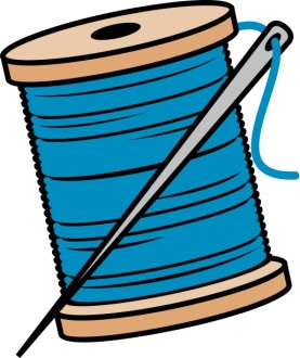 Needle and Thread Clipart
