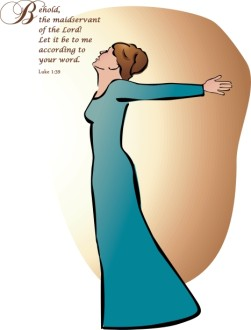 Mary Behold Clipart