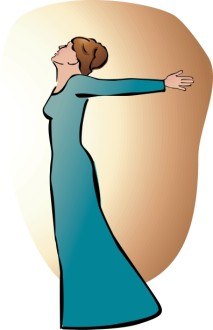 Mary and the Annunciation Clipart