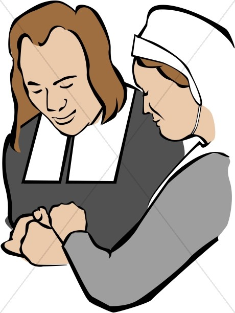 Pilgrims Praying Clipart