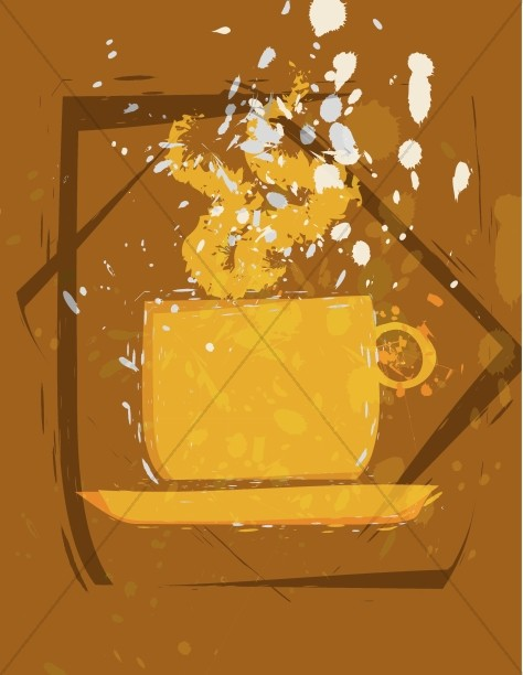 Abstract Coffee Clipart