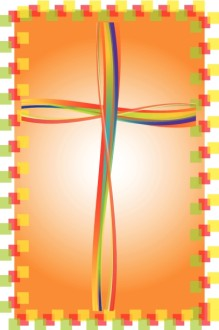 Brightly Colored Cross Clipart