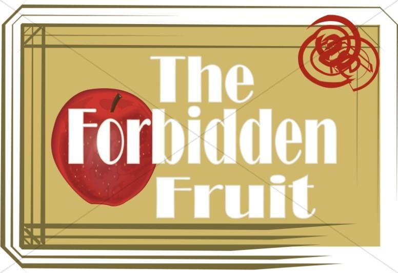 Forbidden Fruit Word Art