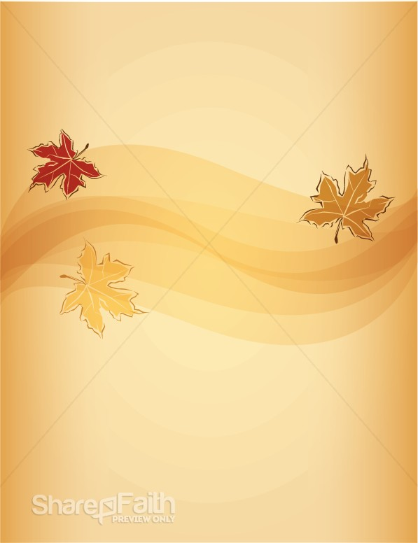 Three Fall Leaves Background