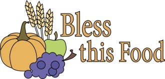 Food and Blessing Word Art