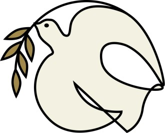 Off White Dove with Olive Branch