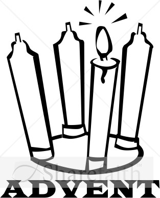 Black and White Advent Candles