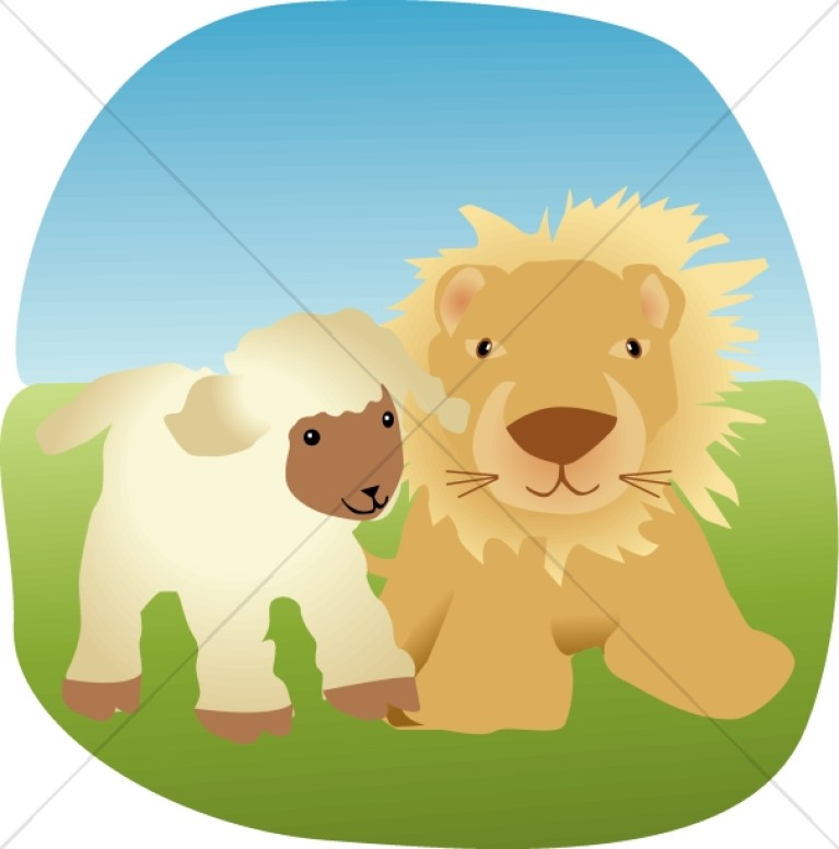 Lion and the Lamb Clipart