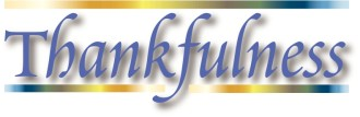 Thankfulness Word Art