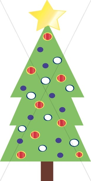 Simple Christmas Tree Clipart