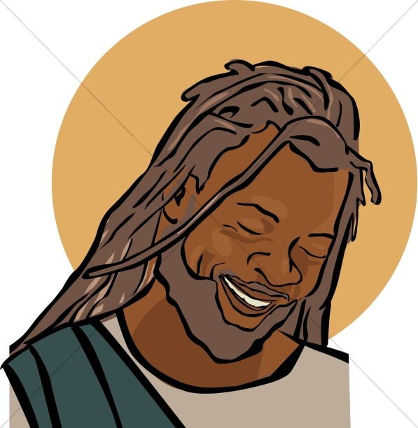 African American Face of Jesus Clipart