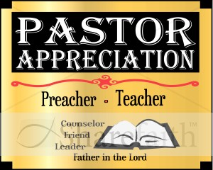 Pastor Appreciation Month Word Art