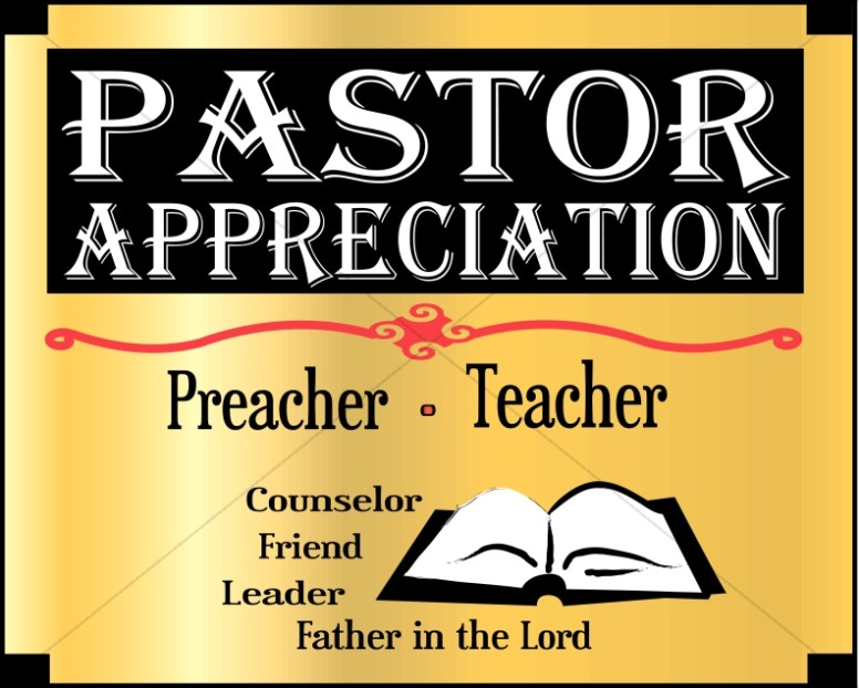 Pastor Appreciation Month Word Art | Event Word Art