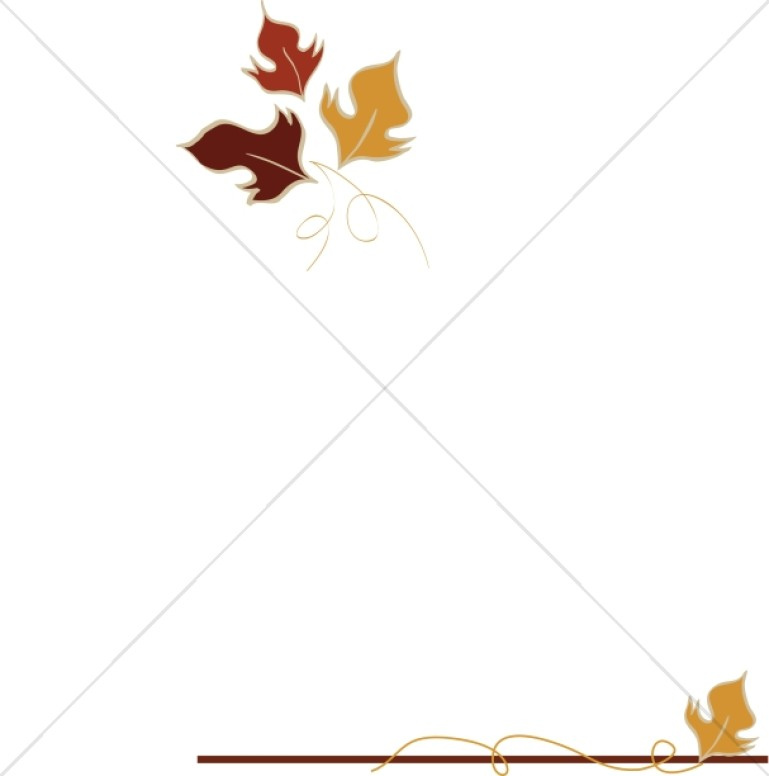 Elegant Fall Leaves Border