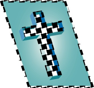 Checkered Cross Clipart