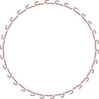 Candy Cane Circular Border