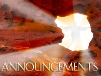 Empty Tomb Announcements Background Image