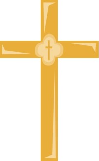 Golden Cross Clipart