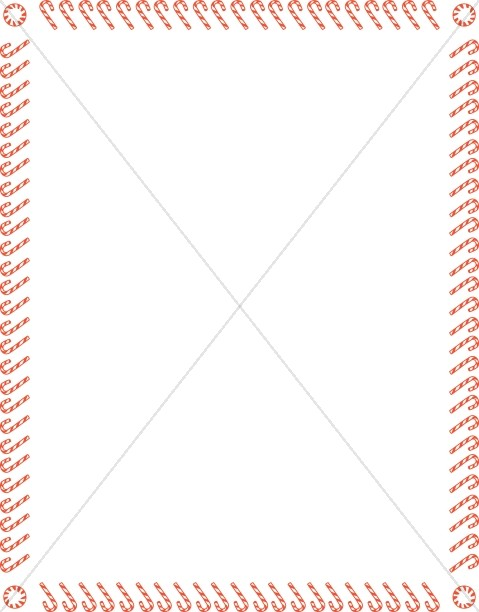 Fun Candy Cane Border