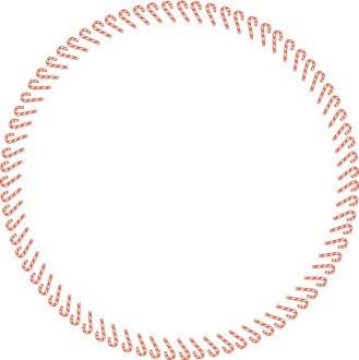 Fun Circle Candy Cane Border