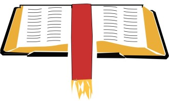 Bible with Scripture Clipart